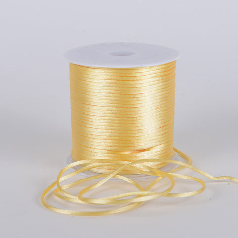 3mm Satin Rat Tail Cord Baby Maize ( 3mm x 100 Yards ) - Ribbons Cheap