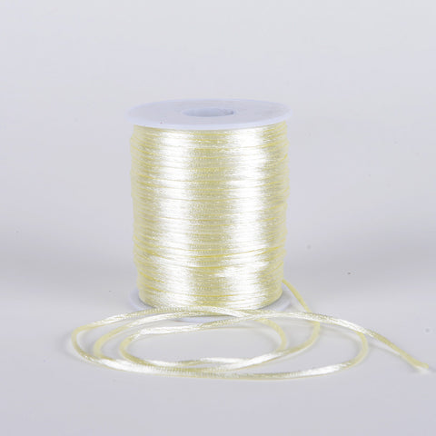 2mm Satin Rat Tail Cord Ivory ( 2mm x 100 Yards ) - Ribbons Cheap