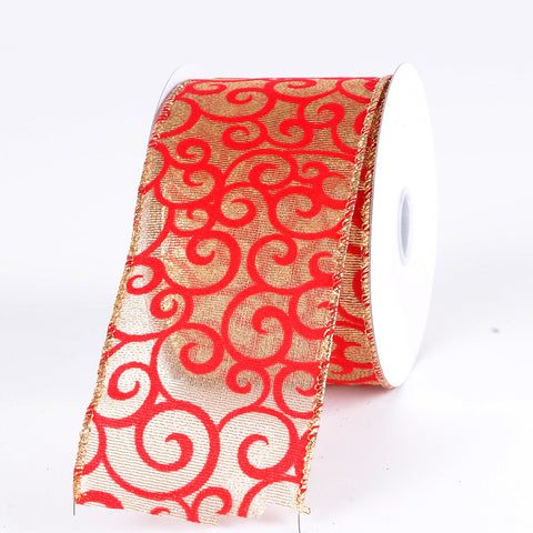 Christmas Ribbon Swirl ( 2-1/2 Inch x 10 Yards ) -