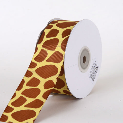 Grosgrain Ribbon Animal Print Giraffe ( 1-1/2 inch | 25 Yards ) -