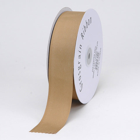 Grosgrain Ribbon Matte Finish Khaki ( 3/8 inch | 50 Yards ) -