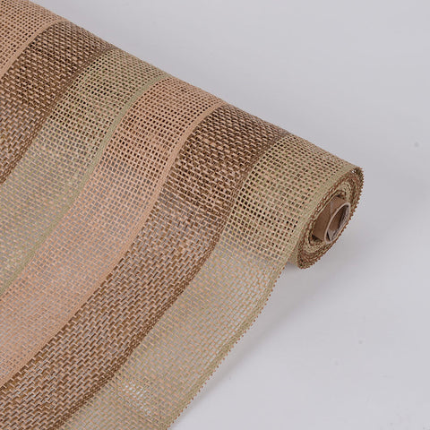 Faux Burlap Plaid Mesh Moss ( 21 inch x 5 Yards ) -