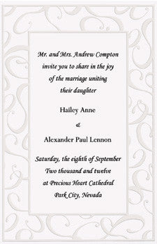 Wedding Invitation Elegant Swirls Invitations ( 50 Invitations ) -
