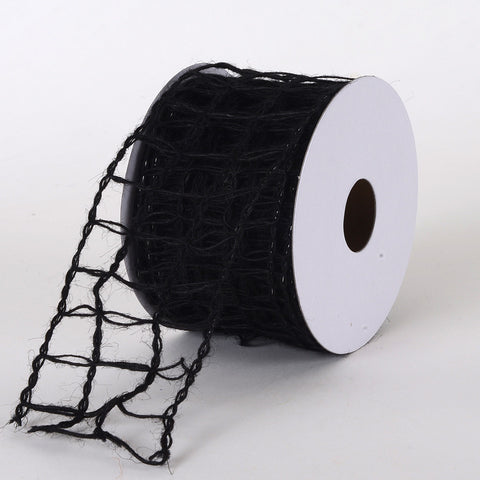 Burlap Net Ribbon Black ( W: 2-1/2 inch | L: 10 Yards ) -