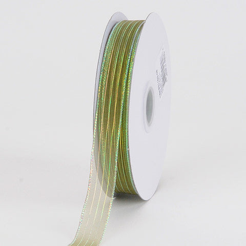 Corsage Ribbon Moss Iridescent ( W: 3/8 inch | L: 50 Yards ) -