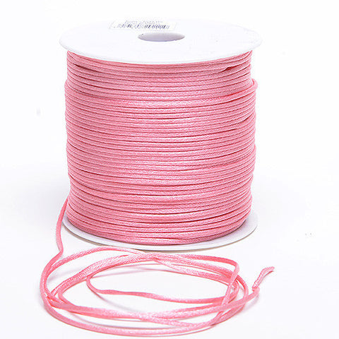 2mm Satin Rat Tail Cord Colonial Rose ( 2mm x 100 Yards ) - Ribbons Cheap