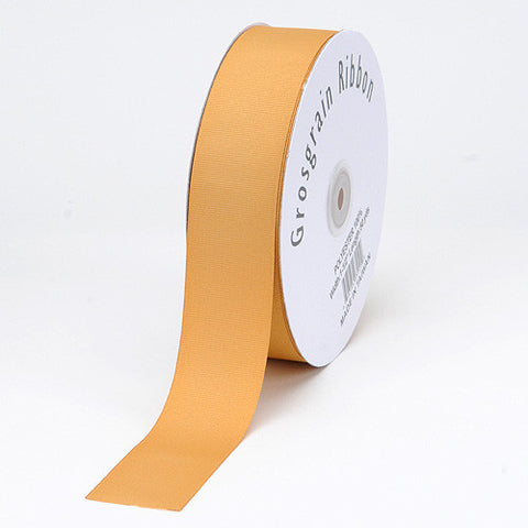 Grosgrain Ribbon Matte Finish Gold ( 7/8 inch | 50 Yards ) -