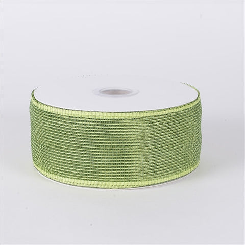 Floral Mesh Ribbon Spring Moss ( 2-1/2 inch x 25 Yards ) -