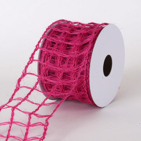 Burlap Net Ribbon Fuchsia ( W: 2-1/2 inch | L: 10 Yards ) -