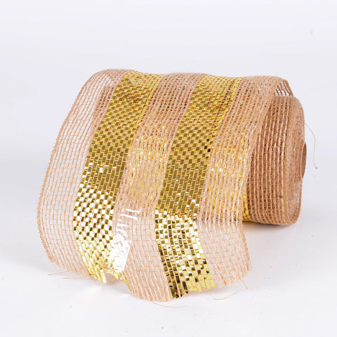 Burlap Mesh Gold( 5.5 Inches x 10 Yards ) -