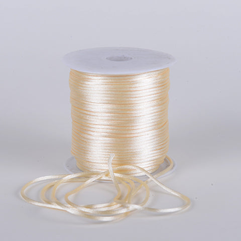 3mm Satin Rat Tail Cord Ivory ( 3mm x 100 Yards ) - Ribbons Cheap
