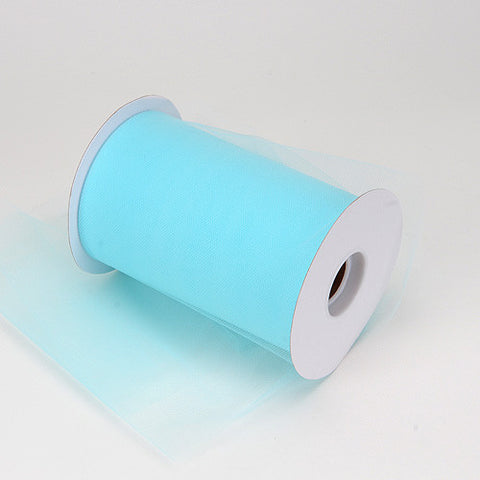Aqua Blue Premium Tulle 100 Yards ( W: 6 inch | L: 100 Yards ) - Ribbons Cheap