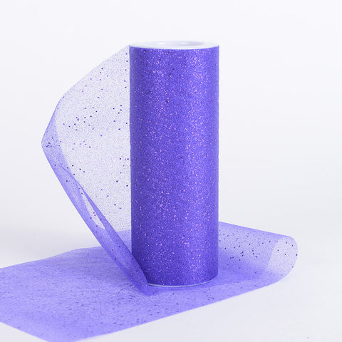 6 Inch Confetti Organza Roll Purple ( W: 6 inch | L: 10 yards ) - Ribbons Cheap