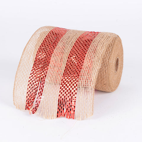 Burlap Mesh Red ( 5.5 Inches x 10 Yards ) -