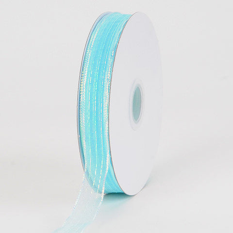 Corsage Ribbon Aqua Blue ( W: 3/8 inch | L: 50 Yards ) -