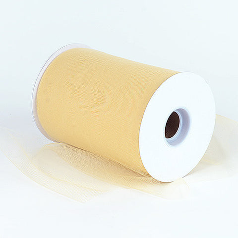Gold Premium Tulle 100 Yards ( W: 6 inch | L: 100 Yards ) -