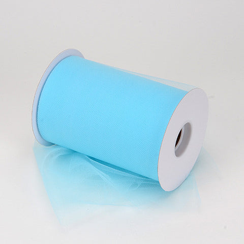 Light Blue Premium Tulle 100 Yards ( W: 6 inch | L: 100 Yards ) -