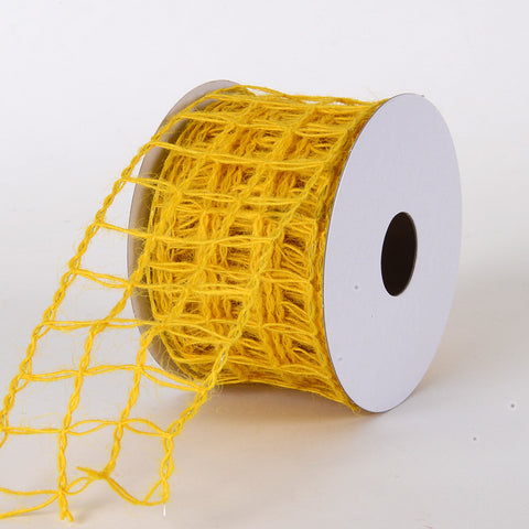 Burlap Net Ribbon Daffodil ( W: 2-1/2 inch | L: 10 Yards ) -