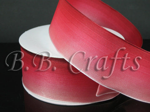 Ombre Ribbon Wired Edge Red Red ( W: 1-1/2 inch | L: 25 Yards ) -
