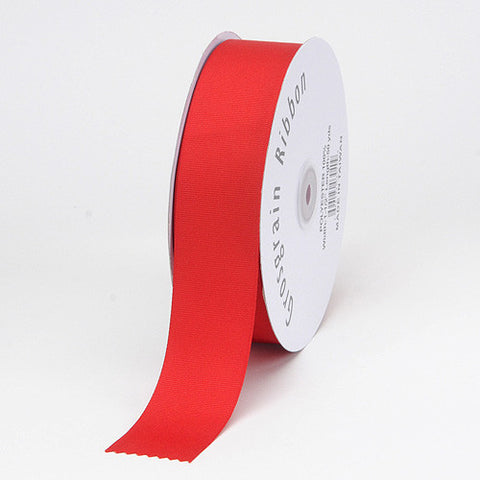 Grosgrain Ribbon Matte Finish Red ( 1/4 inch | 50 Yards ) -