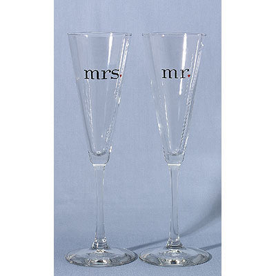 Wedding Toasting Flute Together at Last Mr. and Mrs. Flutes ( Set of 2 ) -