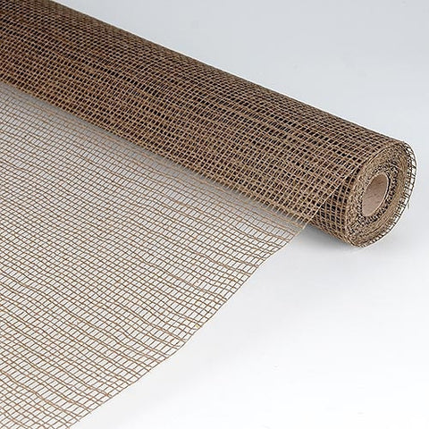 Natural Cotton Jute Chocolate Brown ( 21 Inch x 6 Yards ) -
