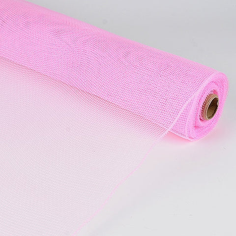 Floral Mesh Wrap Solid Color Light Pink ( 21 Inch x 10 Yards ) -