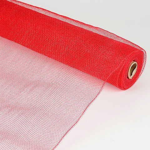 Floral Mesh Wrap Solid Color Red ( 21 Inch x 10 Yards ) -