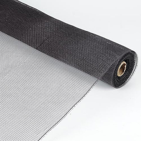 Floral Mesh Wrap Solid Color Black ( 21 Inch x 10 Yards ) -