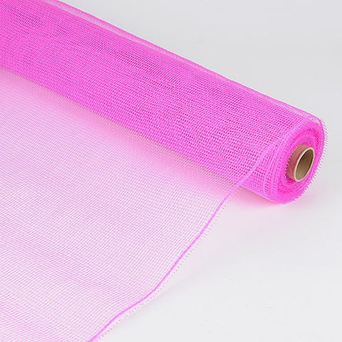 Floral Mesh Wrap Solid Color Fuchsia ( 21 Inch x 10 Yards ) -