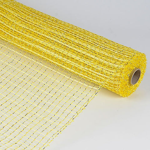 Floral Oasis Mesh Wrap Yellow ( 21 Inch x 10 Yards ) -