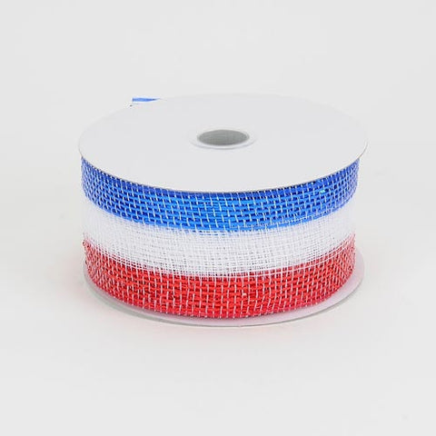 Metallic Deco Mesh Ribbons Flag ( 2.5 inch x 25 yards ) -