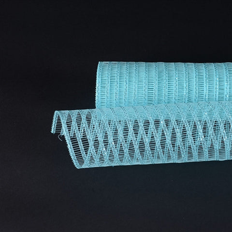 Aqua Blue Deco Mesh Laser Eyelash - Ribbons Cheap