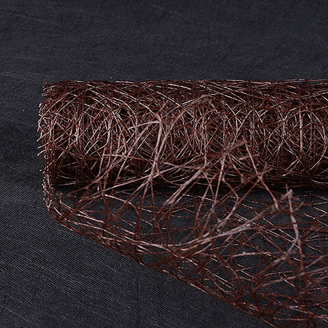 Sisal Mesh Wrap Chocolate Brown ( 21 Inch x 6 Yards ) -