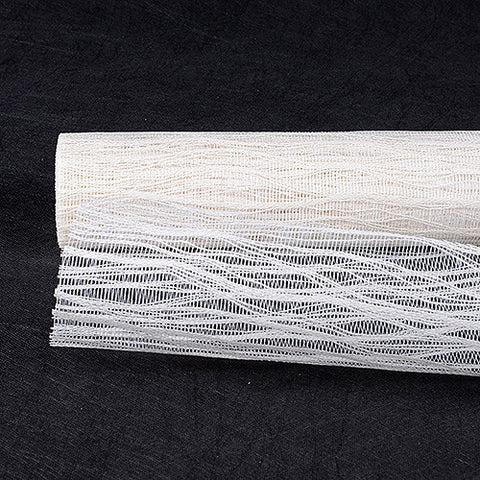 Twine Mesh Wrap White ( 21 Inch x 6 Yards ) -
