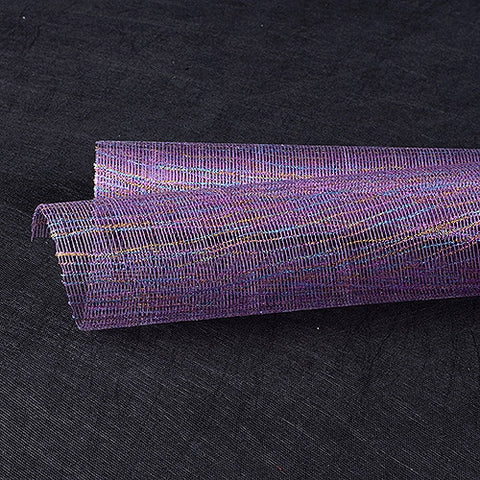 Metallic Thread Mesh Wrap Purple ( 21 Inch x 6 Yards ) -