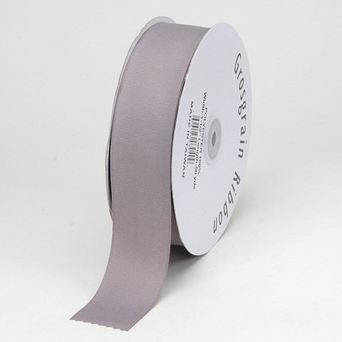 Grosgrain Ribbon Matte Finish Silver ( 1/4 inch | 50 Yards ) -