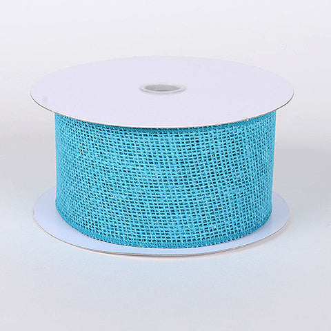 Burlap Ribbon Turquoise ( W: 1-1/2 inch | L: 10 Yards ) -