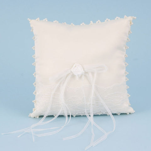 Ring Bearer Pillow Ivory ( 7 Inch x 7 Inch ) -