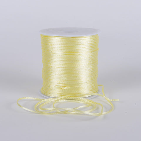 2mm Satin Rat Tail Cord Baby Maize ( 2mm x 100 Yards ) - Ribbons Cheap