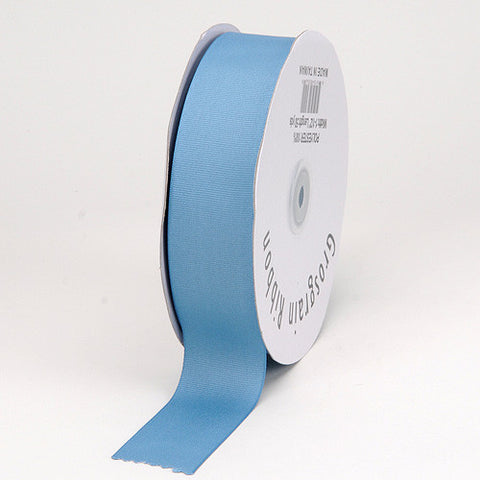 Grosgrain Ribbon Matte Finish Antique Blue ( 5/8 inch | 50 Yards ) -