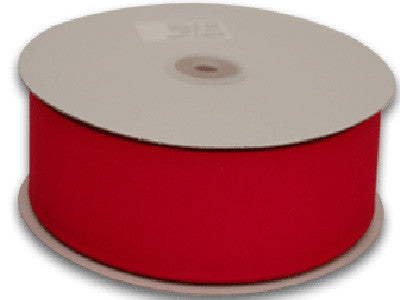 Grosgrain Ribbon Solid Color 25 Yards Red ( W: 1-1/2 inch | L: 25 Yards ) -