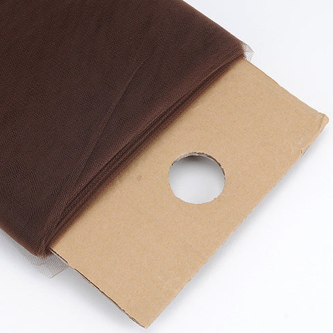 Chocolate Brown 54 Inch Premium Tulle Fabric Bolt ( W: 54 inch | L: 40 Yards ) -