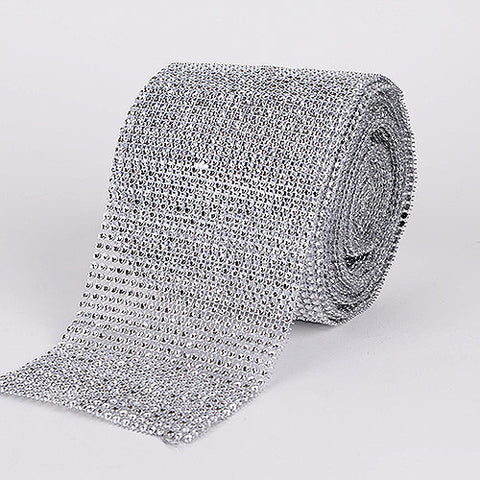 Bling Diamond Rolls Silver ( 4 Inch x 10 Yards ) -