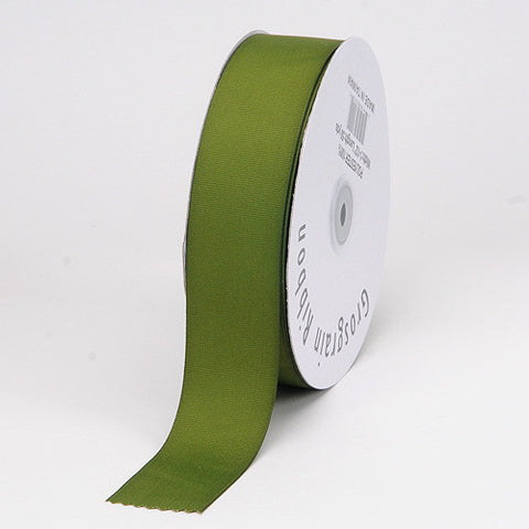 Grosgrain Ribbon Matte Finish Old Willow ( W: 3/8 inch | L: 50 Yards ) -
