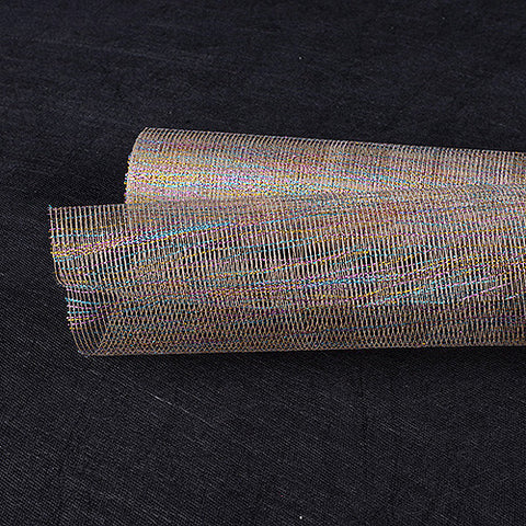 Metallic Thread Mesh Wrap Natural ( 21 Inch x 6 Yards ) -
