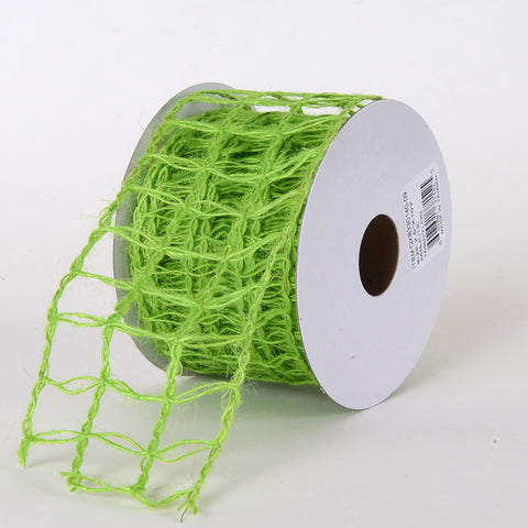 Burlap Net Ribbon Apple Green ( W: 2-1/2 inch | L: 10 Yards ) -