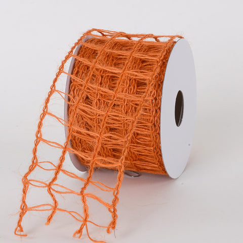 Burlap Net Ribbon Orange ( W: 2-1/2 inch | L: 10 Yards ) -