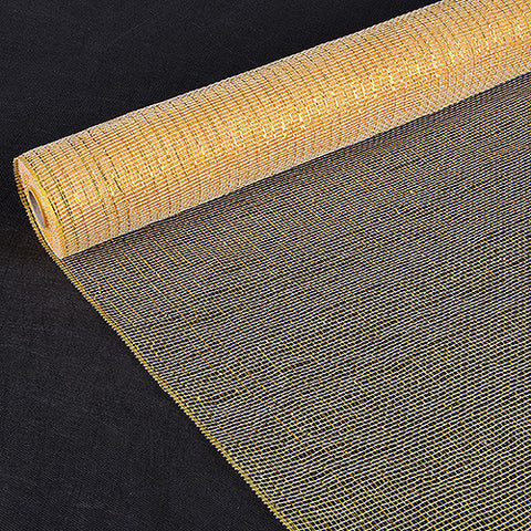 Deco Mesh Wrap Metallic Stripes Gold ( 21 Inch x 10 Yards ) -