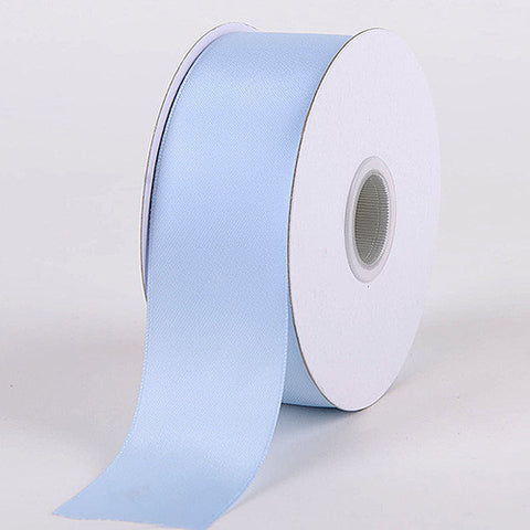Satin Ribbon Double Face Light Blue ( W: 1-1/2 inch | L: 25 Yards ) -